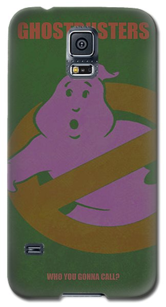 Galaxy S5 Case featuring the digital art Ghostbusters Movie Poster by Brian Reaves