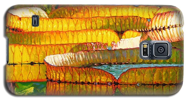 Glorious Morning Lilies Galaxy S5 Case by John Lautermilch