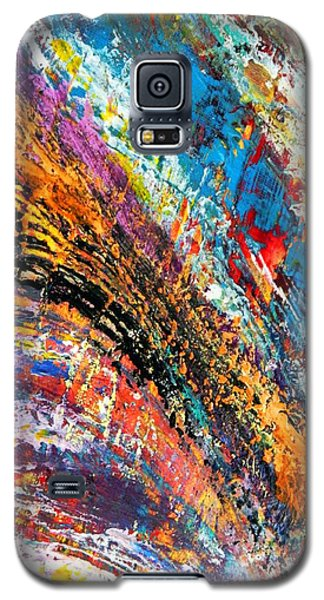 Galaxy S5 Case featuring the mixed media Going With It by Everette McMahan jr