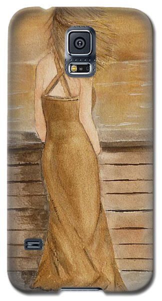 Galaxy S5 Case featuring the painting Golden Breeze by Kelly Mills