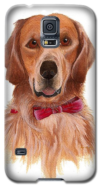 Galaxy S5 Case featuring the painting Golden Labrador by Nan Wright