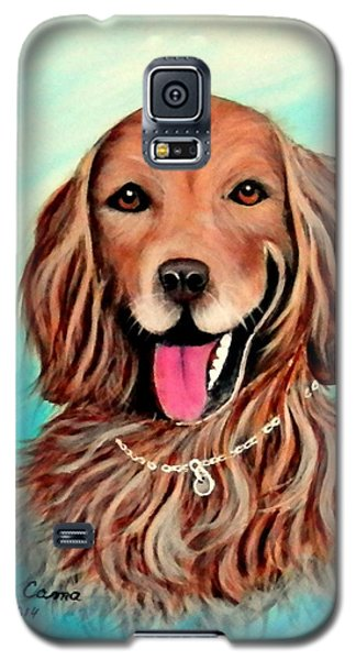 Galaxy S5 Case featuring the painting Golden Retriever by Fram Cama