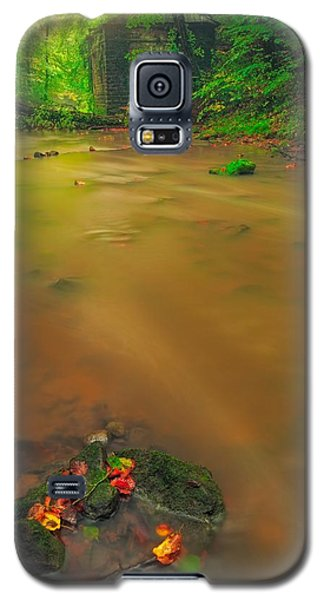 Galaxy S5 Case featuring the photograph Golden River by Maciej Markiewicz