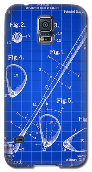Golf Club Patent 1909 - Blue Galaxy S5 Case by Stephen Younts
