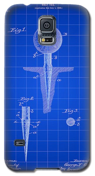 Golf Tee Patent 1899 - Blue Galaxy S5 Case by Stephen Younts