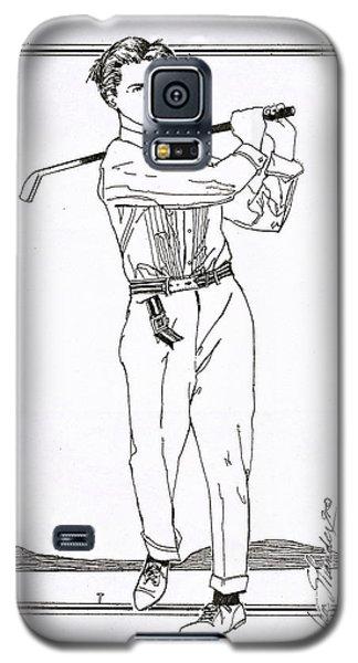 Golfer 1915 Galaxy S5 Case by Ira Shander