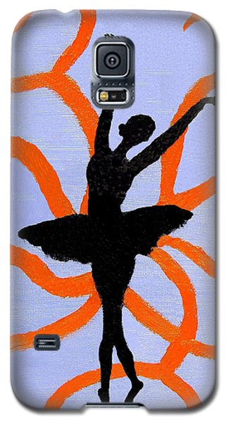 Galaxy S5 Case featuring the painting Graceful Silhouette by Margaret Harmon
