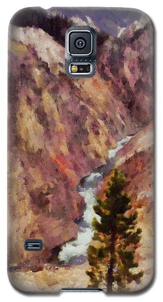 Galaxy S5 Case featuring the painting Grand Canyon Of The Yellowstone by Kai Saarto