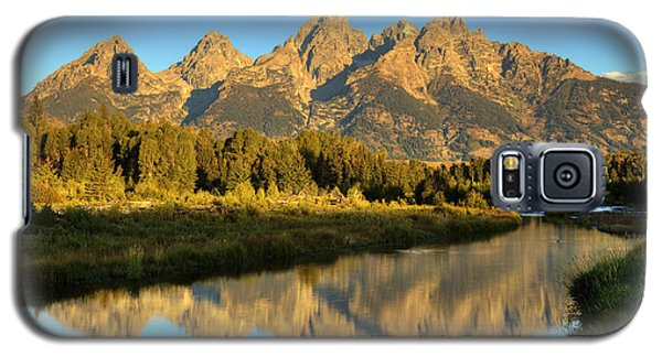 Galaxy S5 Case featuring the photograph Grand Teton by Alan Vance Ley