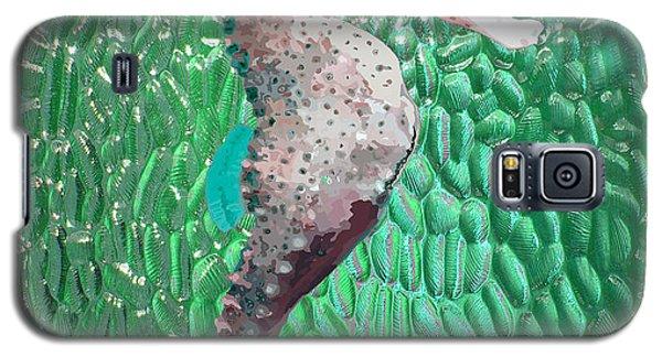 Galaxy S5 Case featuring the digital art Green Glass Sea Horse by Megan Dirsa-DuBois