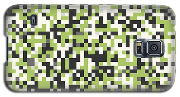 Galaxy S5 Case featuring the digital art Green Pixel Art by Mike Taylor
