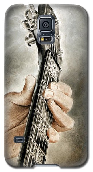 Galaxy S5 Case featuring the drawing Guitarist's Point Of View by Glenn Beasley