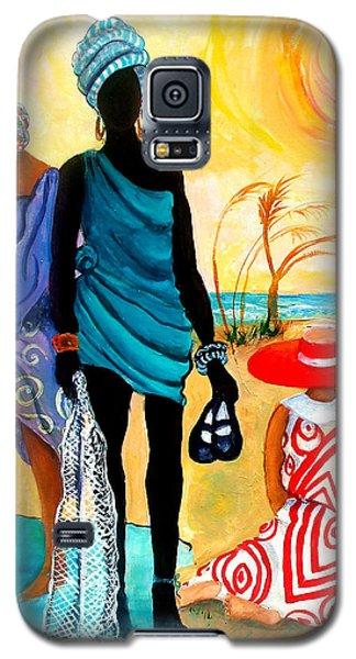 Galaxy S5 Case featuring the painting Gullah-creole Trio  by Diane Britton Dunham