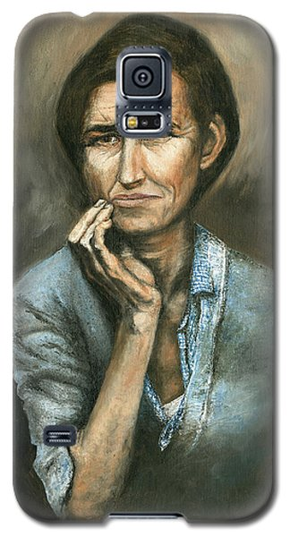 Galaxy S5 Case featuring the painting Hannah -timeless Beauty by Mary Ellen Anderson