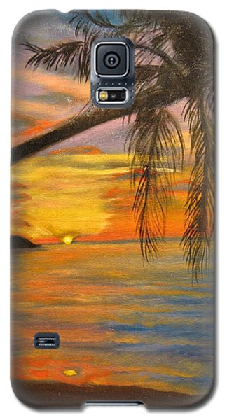 Galaxy S5 Case featuring the painting Hawaiian Sunset 11 by Jenny Lee