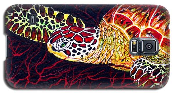 Hawksbill Turtle Galaxy S5 Case by Debbie Chamberlin