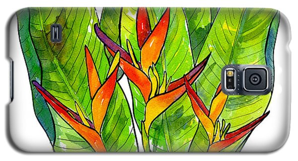 Banana Galaxy S5 Case - Heliconia by Diane Thornton