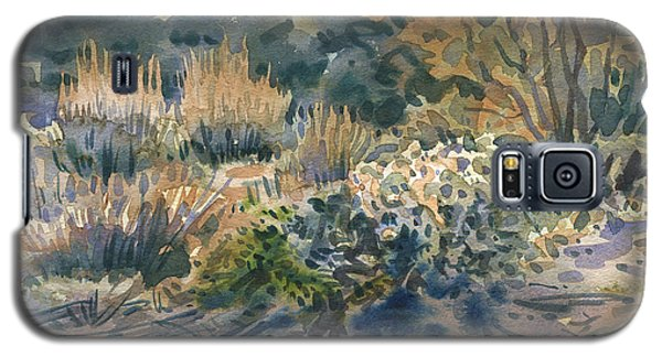 Galaxy S5 Case featuring the painting High Desert Flora by Donald Maier