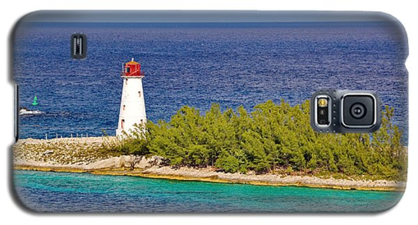 Hog Island Lighthouse On Paradise Island Bahamas Galaxy S5 Case