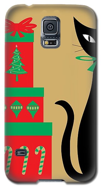 Holiday Cat 2 Galaxy S5 Case