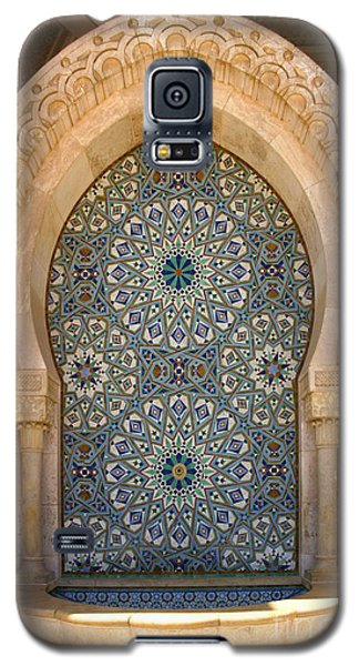 Galaxy S5 Case featuring the photograph Holy Water Fountain Hassan II Mosque Sour Jdid Casablanca Morocco  by Ralph A  Ledergerber-Photography