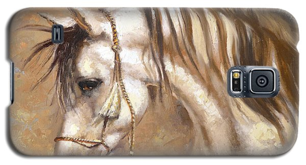 Galaxy S5 Case featuring the painting Horse by Dmitry Spiros