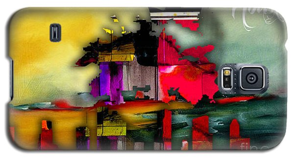 Houston Map And Skyline Watercolor Galaxy S5 Case by Marvin Blaine
