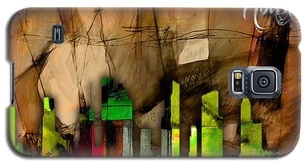 Houston Texas Skyline Watercolor Galaxy S5 Case by Marvin Blaine