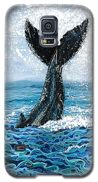 Galaxy S5 Case featuring the painting Humpback Flukes by Debbie Chamberlin