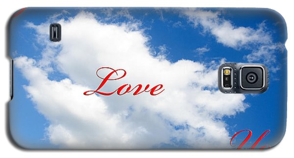 1 I Love You Heart Cloud Galaxy S5 Case