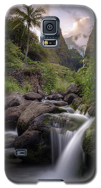 Galaxy S5 Case featuring the photograph Iao Needle Sunset by Hawaii  Fine Art Photography
