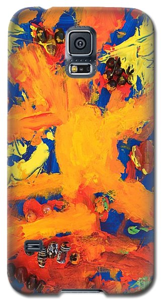 Galaxy S5 Case featuring the mixed media Impact by Donald J Ryker III