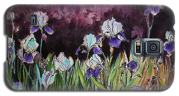 Galaxy S5 Case featuring the painting Iris In My Backyard by Ping Yan