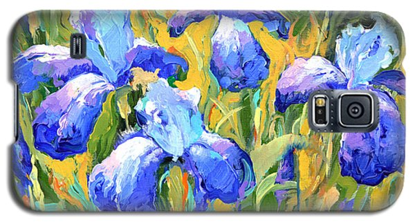 Galaxy S5 Case featuring the painting Irises by Dmitry Spiros