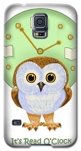 Galaxy S5 Case featuring the painting It's Read O'clock by Leena Pekkalainen