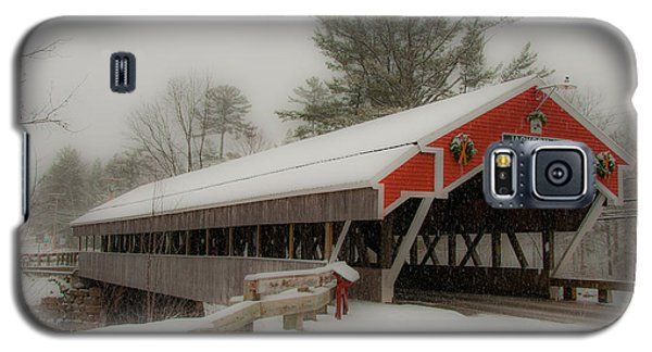 Jackson Nh Covered Bridge Galaxy S5 Case by Brenda Jacobs
