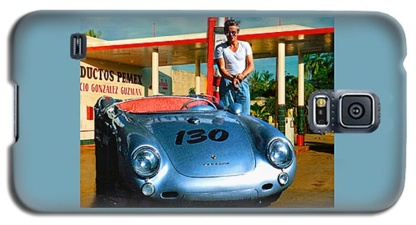 James Dean Filling His Spyder With Gas Galaxy S5 Case by Doc Braham