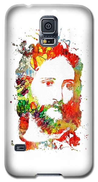 Jesus Christ - Watercolor Galaxy S5 Case by Doc Braham