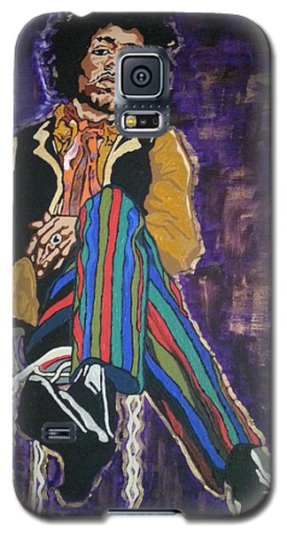Galaxy S5 Case featuring the painting Jimi Hendrix by Rachel Natalie Rawlins