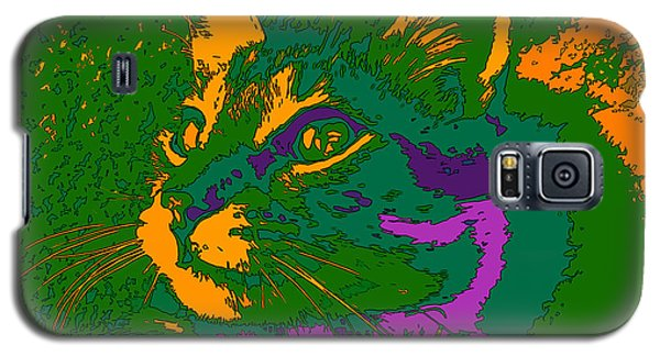 Galaxy S5 Case featuring the digital art Jungle Cat by Hanza Turgul