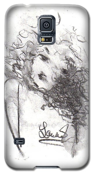 Galaxy S5 Case featuring the drawing Just Me by Laurie L