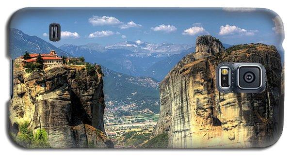 Kalambaka Beneath The Meteora Of Greece Galaxy S5 Case by Micah Goff