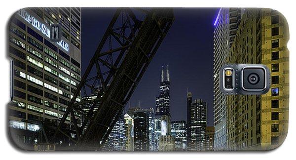 Kinzie Street Railroad Bridge At Night Galaxy S5 Case
