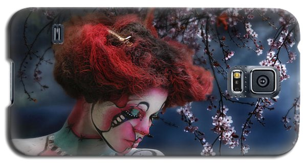 Galaxy S5 Case featuring the digital art Lady Spring Silence by Rosa Cobos