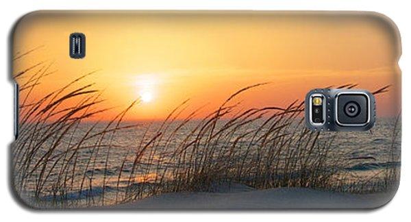 Lake Michigan Sunset Panorama Galaxy S5 Case