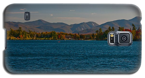 Lake Placid And The Adirondack Mountain Range Galaxy S5 Case by Brenda Jacobs