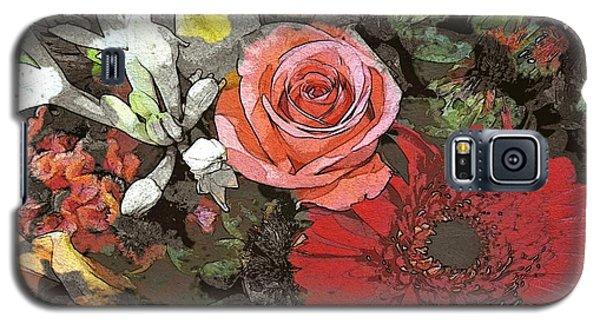 Galaxy S5 Case featuring the digital art Lancaster Flowers by Joseph J Stevens