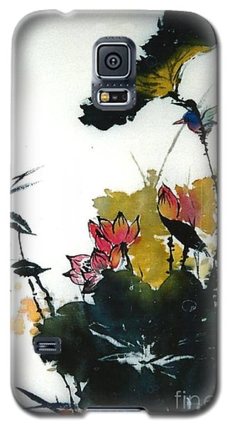 Chinese Flower Brush Painting Galaxy S5 Case