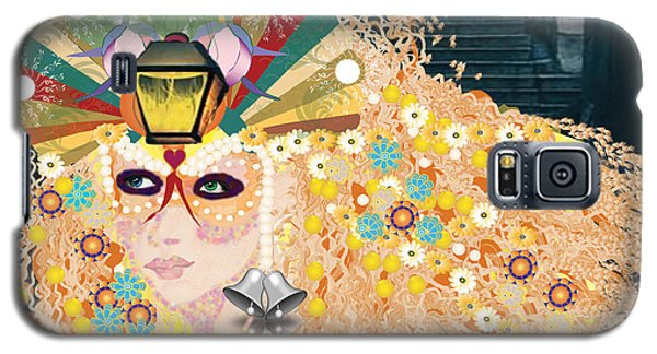 Galaxy S5 Case featuring the digital art Lantern Fairy by Kim Prowse