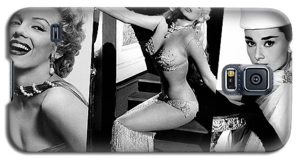 Legends Marilyn Monroe Jane Mansfield And Audrey Hepburn Galaxy S5 Case by Marvin Blaine